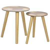 vidaXL 2 db aranyszínű MDF egymásba rakható asztal 40x45/30x40 cm