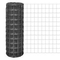 vidaXL Euro Fence szürke acélkerítés 25 x 1,5 m