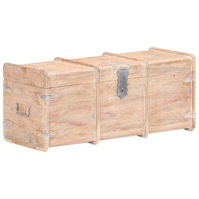 vidaXL tömör akácfa tárolóláda 90 x 40 x 40 cm