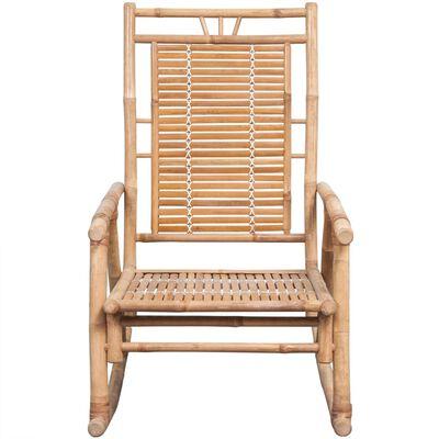 vidaXL bambusz hintaszék párnával