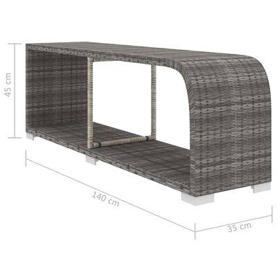 vidaXL 8-részes szürke polyrattan kerti bútorszett párnákkal