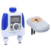 vidaXL elektronikus kétutas öntözésidőzítő nedvességérzékelővel
