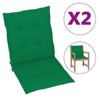 vidaXL 6 db zöld kerti székpárna 100 x 50 x 7 cm