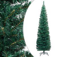 vidaXL zöld vékony PVC műkarácsonyfa állvánnyal 210 cm