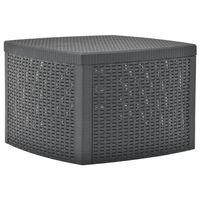 vidaXL antracitszürke műanyag kisasztal 54 x 54 x 36,5 cm