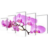 Nyomtatott vászon falikép szett orchidea 200 x 100 cm