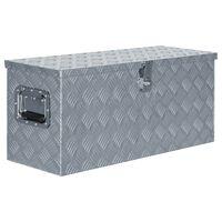 vidaXL ezüstszínű alumíniumdoboz 80 x 30 x 35 cm