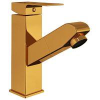 vidaXL aranyszínű kihúzható fürdőszobai mosdócsaptelep 157 x 172 mm
