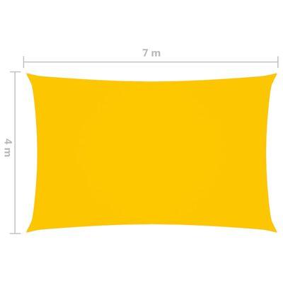 vidaXL sárga téglalap alakú oxford-szövet napvitorla 4 x 7 m