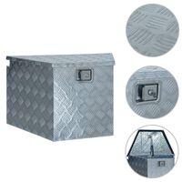 vidaXL ezüstszínű alumíniumdoboz 737/381 x 410 x 460 mm