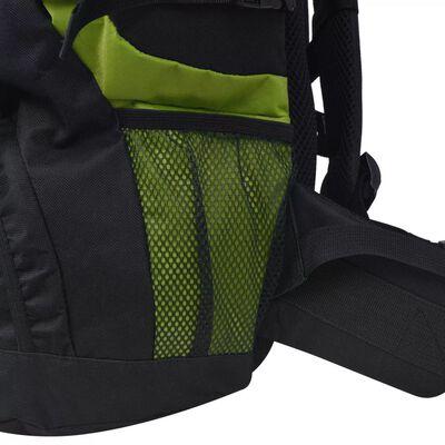 vidaXL XXL 75 L fekete és zöld túra hátizsák