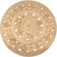 vidaXL kör alakú, fonott juta szőnyeg 120 cm