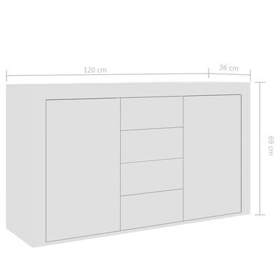 vidaXL fehér forgácslap tálalószekrény 120 x 36 x 69 cm