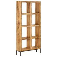 vidaXL tömör mangófa könyvespolc 80 x 25 x 175 cm