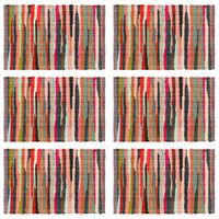 vidaXL 6 darab színes pamut rongyalátét 30 x 45 cm