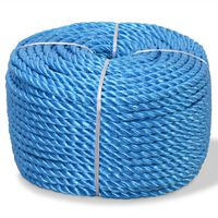 vidaXL kék polipropilén sodrott kötél 14 mm 100 m