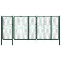 vidaXL zöld acél kertkapu 175 x 495 cm