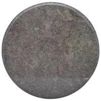 vidaXL fekete márvány asztallap Ø60 x 2,5 cm