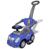 Gyerek játék autó hang- és fényeffekttel, tolórúddal kék