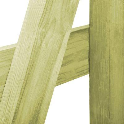 vidaXL zöld impregnált fenyőfa tripla kukatároló 210 x 80 x 150 cm