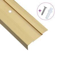 vidaXL 15 db aranyszínű L-alakú alumínium lépcső élvédő 134 cm
