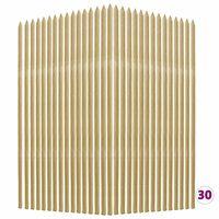 vidaXL 30 db impregnált fenyőfa növénykaró 2,8 x 2,8 x 150 cm