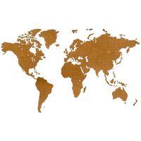 MiMi Innovations Luxury barna világtérkép fali dekoráció 180 x 108 cm