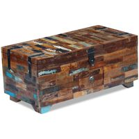 vidaXL ládika dohányzóasztal tömör újrahasznosított fa 80x40x35 cm