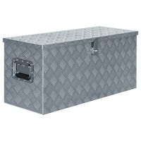 vidaXL ezüstszínű alumíniumdoboz 90,5 x 35 x 40 cm