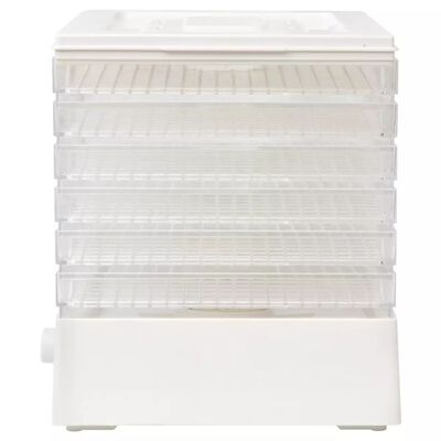 vidaXL aszaló és szárítógép 6 tálcás 250 W fehér