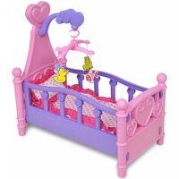 Gyerek játék babaágy rózsaszín + lila