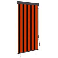 vidaXL narancssárga és barna kültéri roló 100 x 250 cm