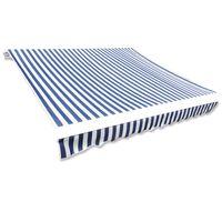 vidaXL kék és fehér napellenző ponyva 4 x 3 m (keret nélkül)