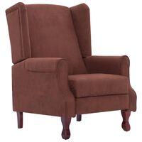 vidaXL barna szövet állítható szék