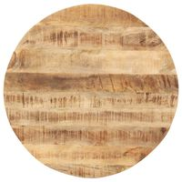 vidaXL kerek tömör mangófa asztallap 15-16 mm 50 cm