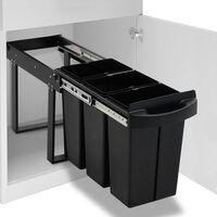 vidaXL lágyan csukódó újrahasznosított kihúzható konyhai szemetes 36 l