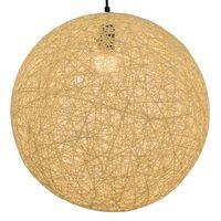 vidaXL krémszínű gömb alakú függőlámpa 45 cm E27