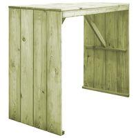 vidaXL impregnált fenyőfa bárasztal 130 x 60 x 110 cm