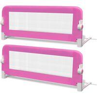 vidaXL 2 db rózsaszín biztonsági leesésgátló 102 x 42 cm