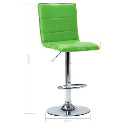 vidaXL zöld műbőr bárszék
