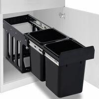 vidaXL lágyan csukódó újrahasznosított kihúzható konyhai szemetes 20 l