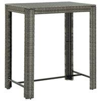 vidaXL szürke polyrattan kerti bárasztal 100 x 60,5 x 110,5 cm