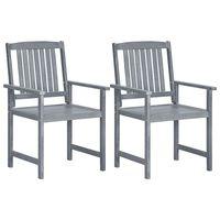 vidaXL 2 db szürke tömör akácfa kerti szék