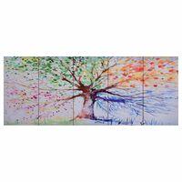 vidaXL többszínű nyomtatott fa vászon falikép szett 200 x 80 cm