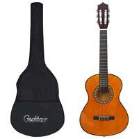 """vidaXL 1/2-es klasszikus gitár kezdőknek és gyereknek tokkal 34"""""""