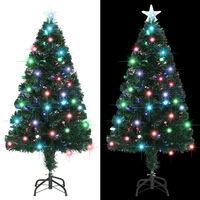 vidaXL optikai szálas műkarácsonyfa talppal/LED fénnyel 120 cm