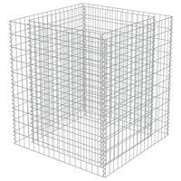 vidaXL horganyzott acél gabion magaságyás 90 x 90 x 100 cm