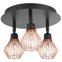 Design Fekete És Réz Mennyezeti Lámpa VOLGA M