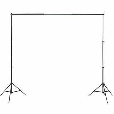 vidaXL fotóstúdió-felszerelés 3 pamut háttérrel, kerettel 3 x 3 m