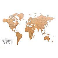 MiMi Innovations Luxury barna világtérkép puzzle fali dísz 150 x 90 cm